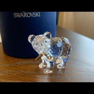 Swarovski Figurine- Bear with fish